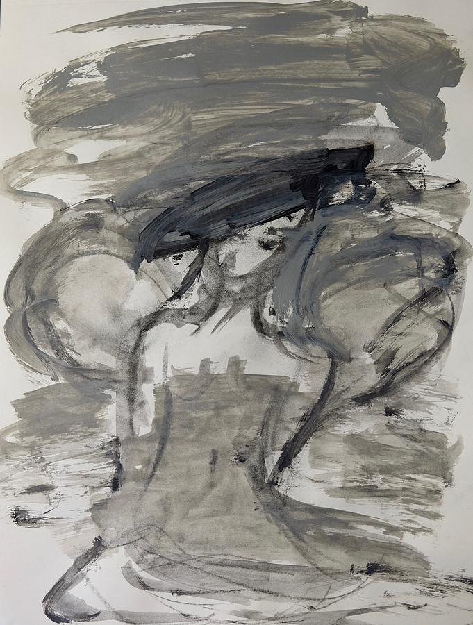 Grey Painting - Grey Dream by Barbara Rose Brooker