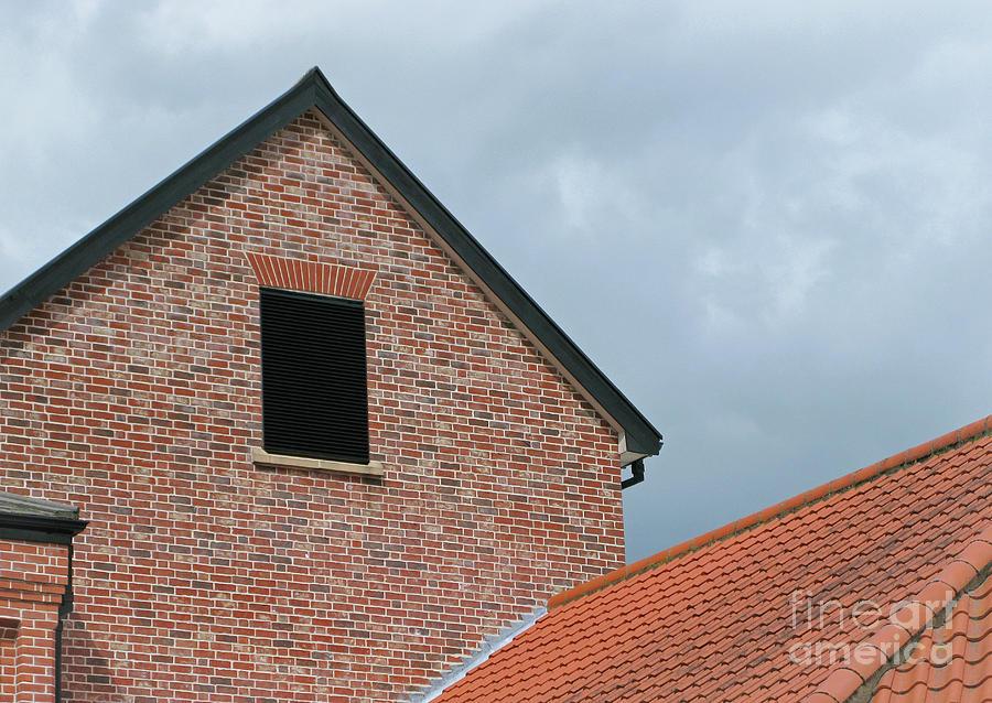 Brick Photograph - Grey Skyline by Ann Horn