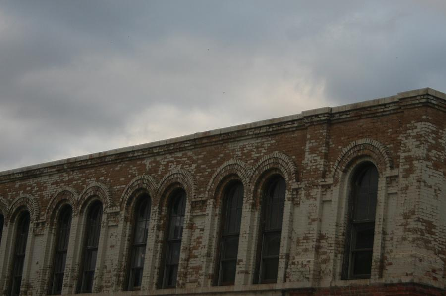 Old Building Photograph - Grey Skys by Magi Yarbrough