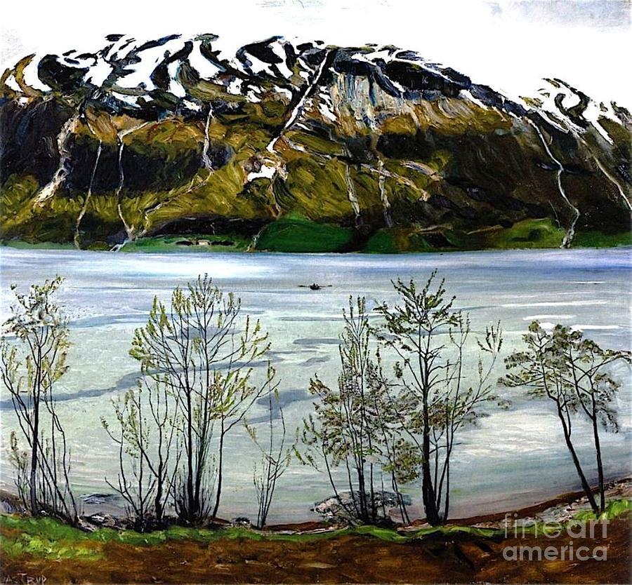 Grey Spring Evening Painting