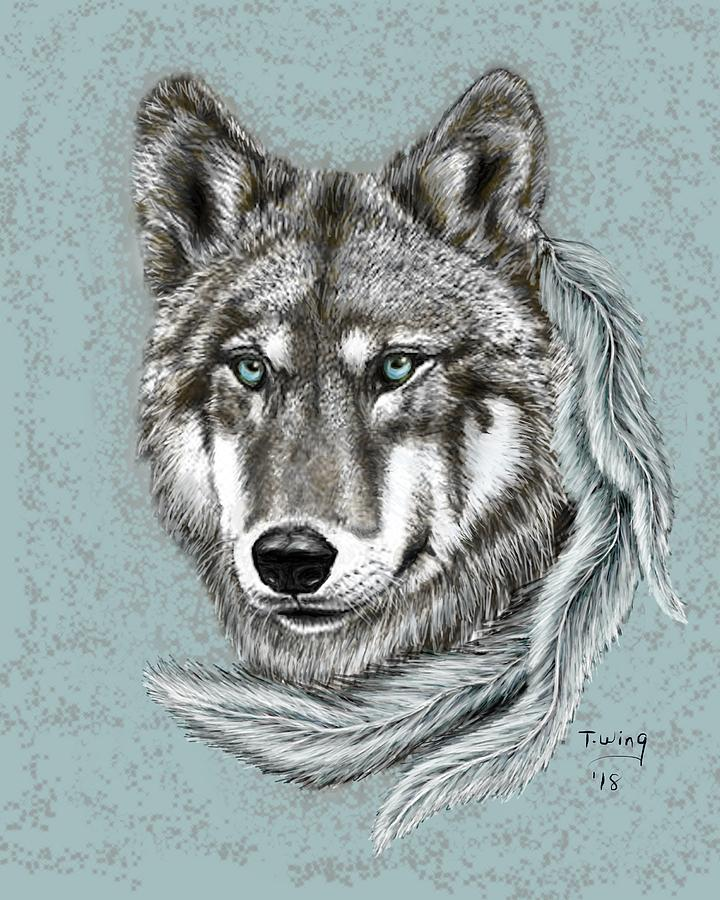 Grey Wolf by Teresa Wing