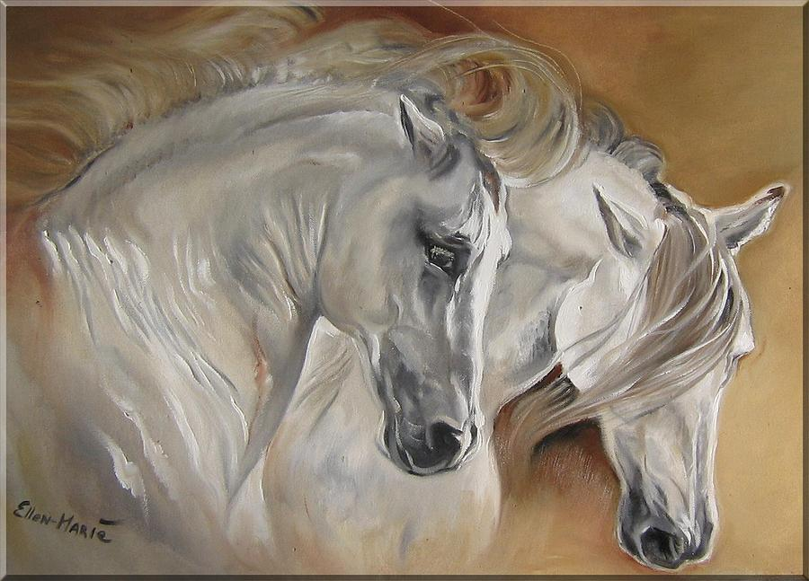 Paintings Painting - Greys by Ellen-marie Janse