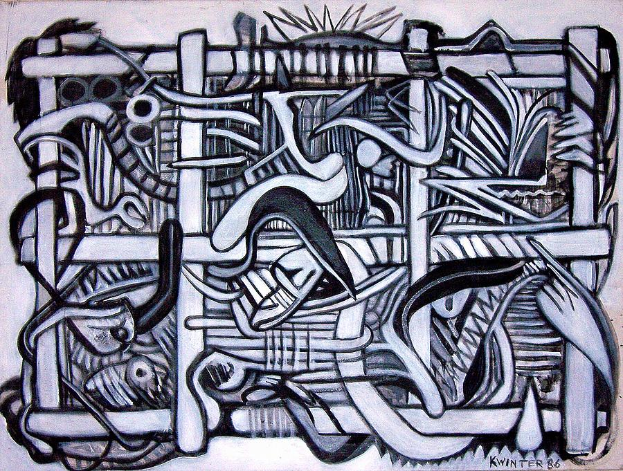 Grid Painting by Dave Kwinter
