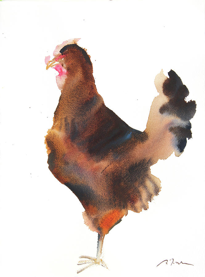 grid series no.12 chicken no.6 by Sumiyo Toribe
