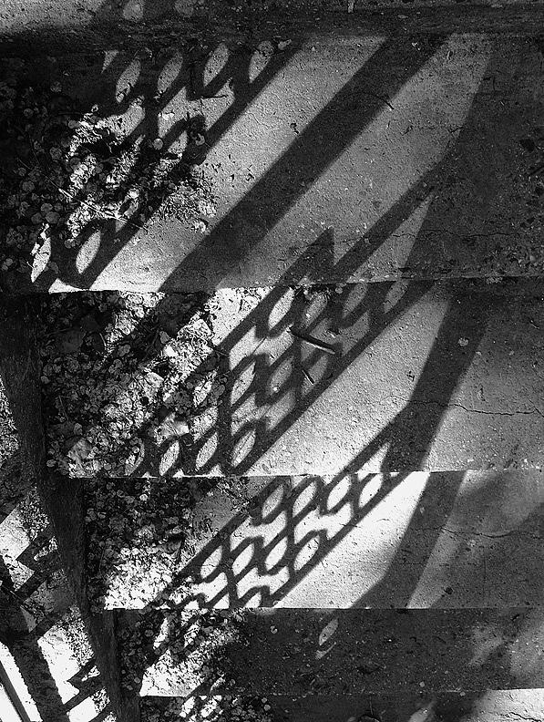 Step Photograph - Grid Stair by Michael Cohen