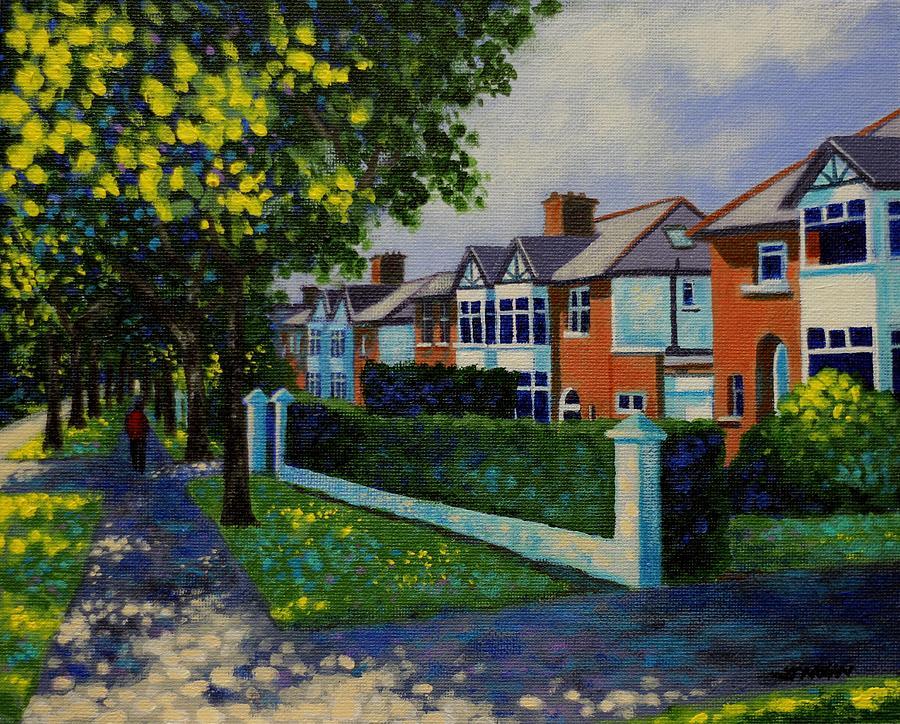 Landscape Painting - Griffith Avenue Dublin  by John  Nolan
