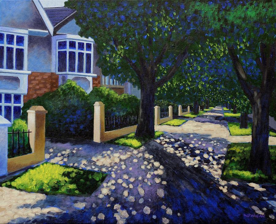 Dublin Painting - Griffith Avenue Through The Trees by John  Nolan