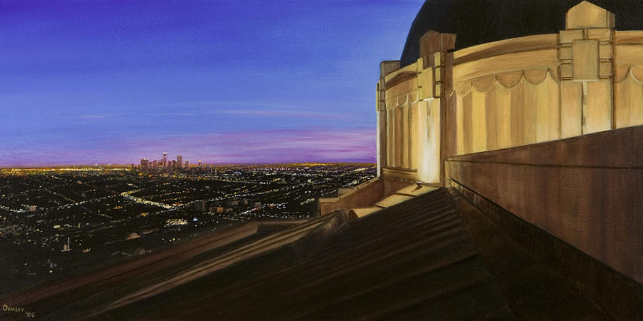 Griffith Park Observatory Painting - Griffith Park Observatory by Christopher Oakley