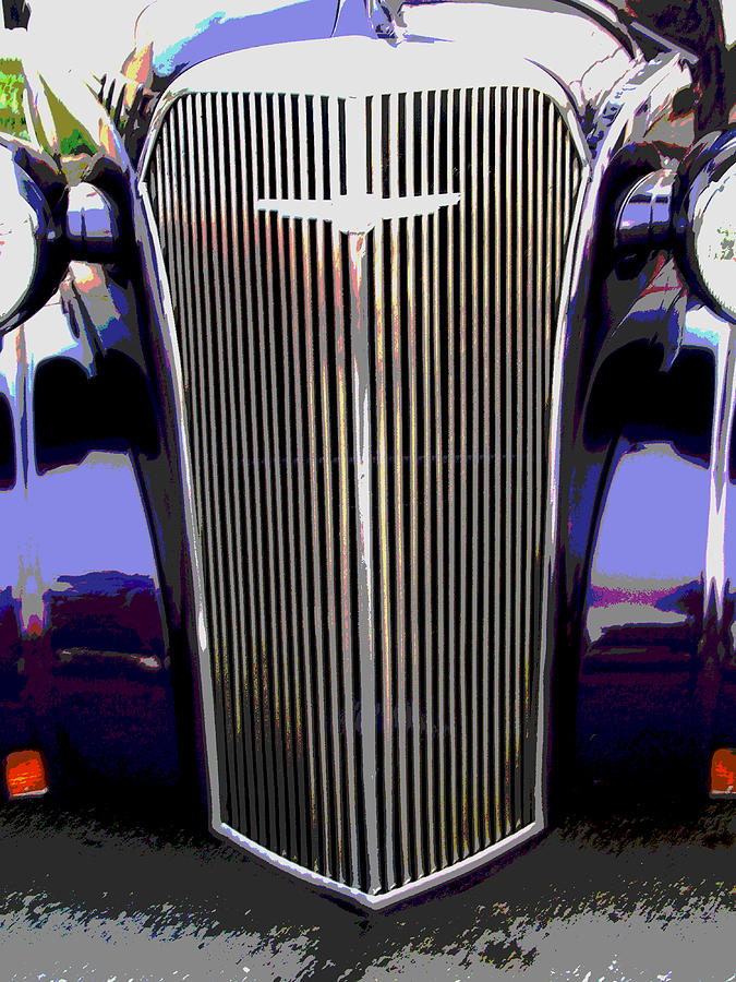 Automobile Photograph - Grill by Audrey Venute