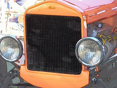 Hot Rod Cars Photograph - Grill by Barbara Love Newport