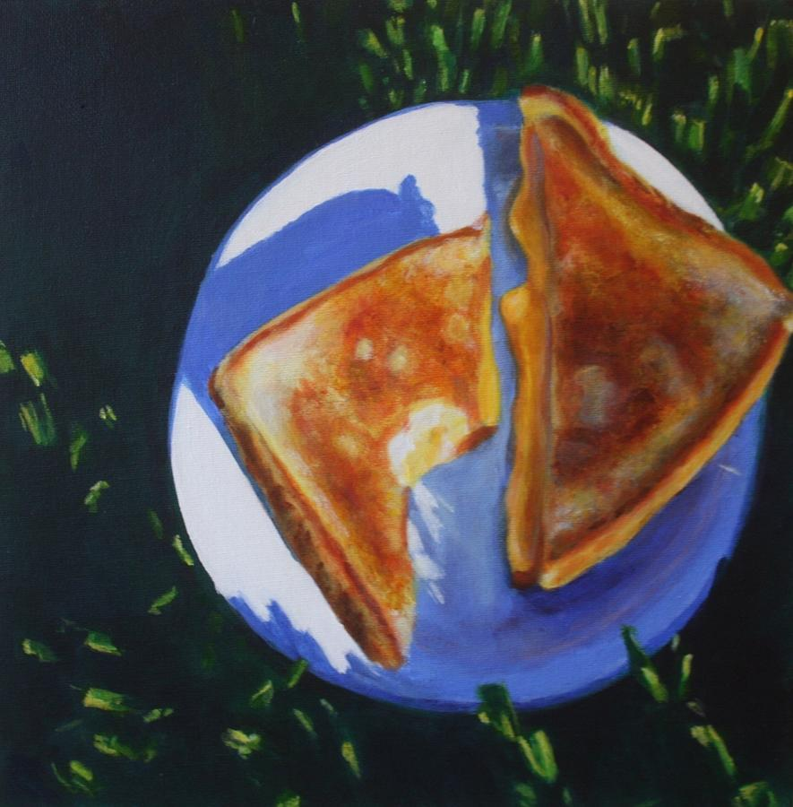 Food Painting - Grilled Cheese Please by Sarah Vandenbusch