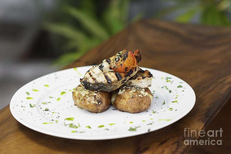 Grilled Fish And Potato Portuguese Style Photograph by ...