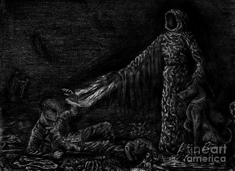 Grim Reaper Digital Art - Grim For Ael by Katie Alfonsi