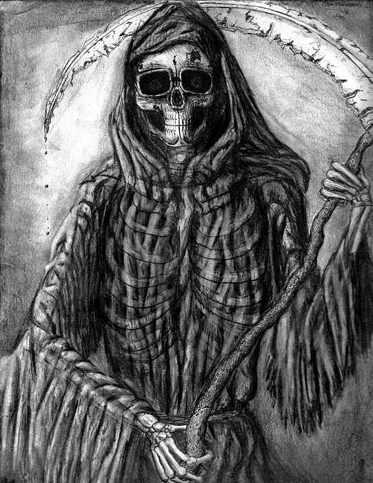 Grim Reaper Drawing - Grim Reaper by Katie Alfonsi