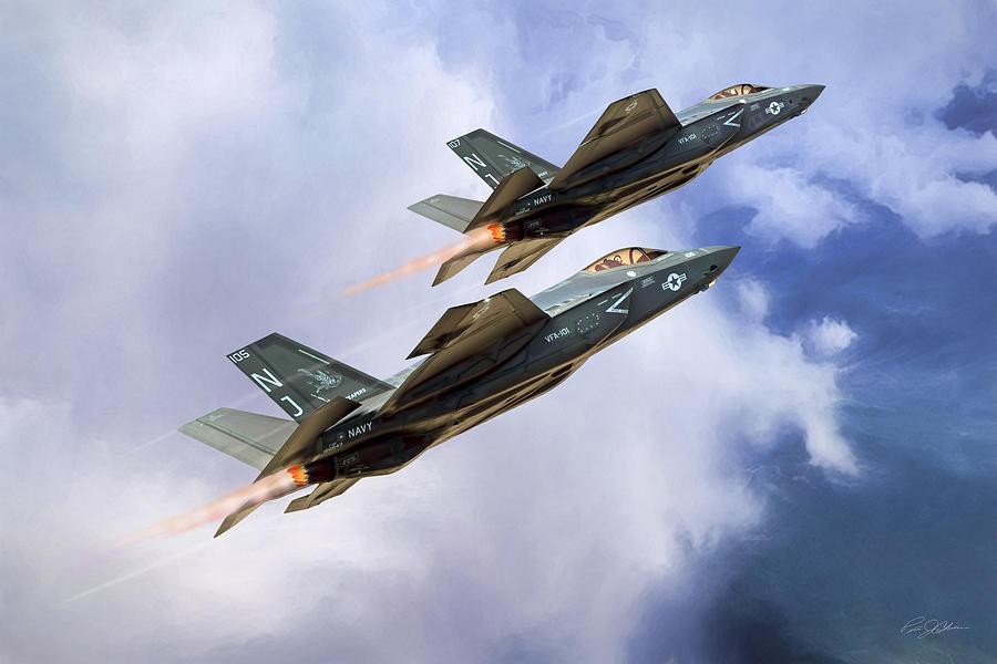 Lockheed Martin Digital Art - Grim Reapers  by Peter Chilelli
