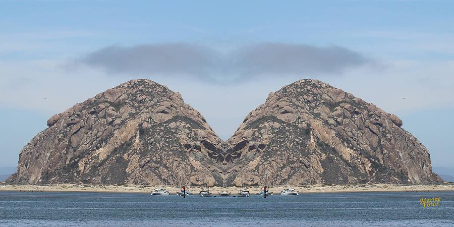 Morro Bay Photograph - Grinch Of The Rock In Morro Rock by Gary Canant