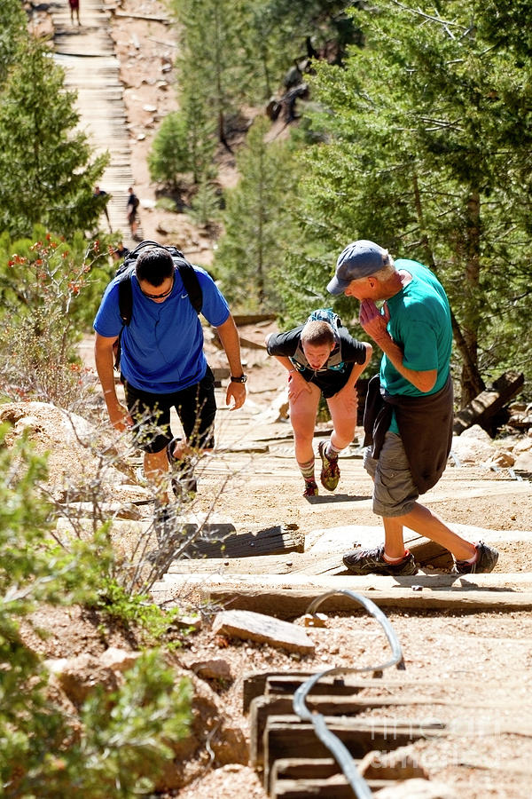 Grinding It Out On The Manitou Incline And Barr Trail Photograph