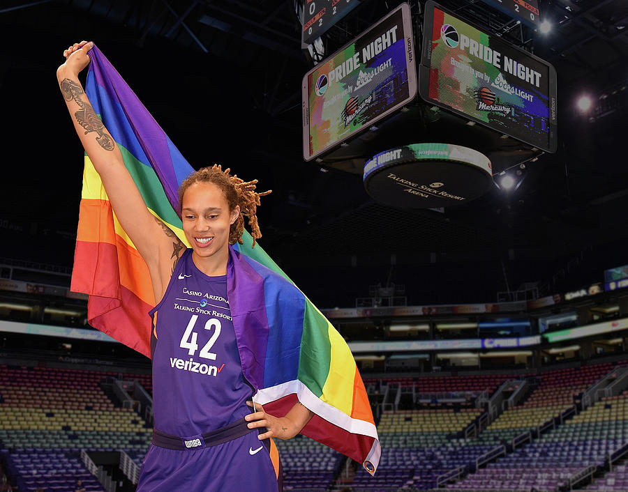 Brittney Griner Photograph - Griner Pride 1 by Devin Millington