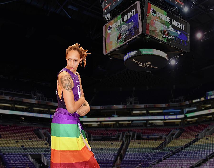 Brittney Griner Photograph - Griner Pride 2 by Devin Millington
