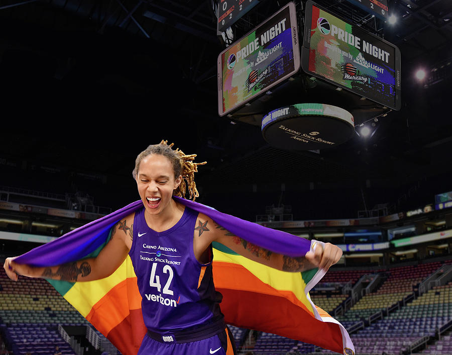 Brittney Griner Photograph - Griner Pride 3 by Devin Millington