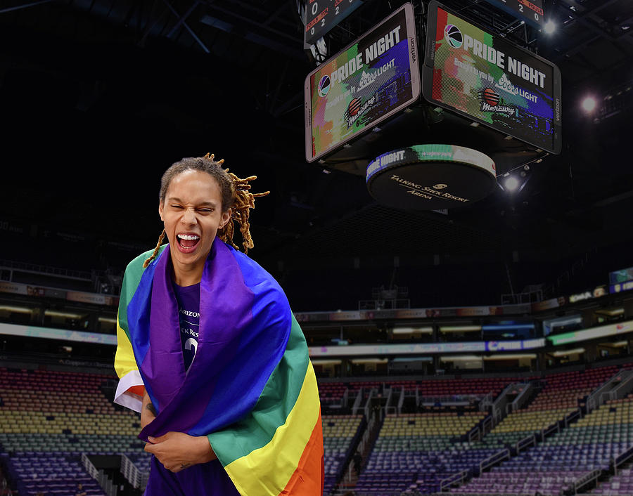 Brittney Griner Photograph - Griner PRIDE 6 by Devin Millington