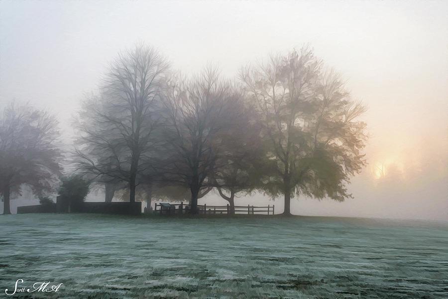 Pennsylvania Photograph - Grings Mill Fog 15-016 by Scott McAllister