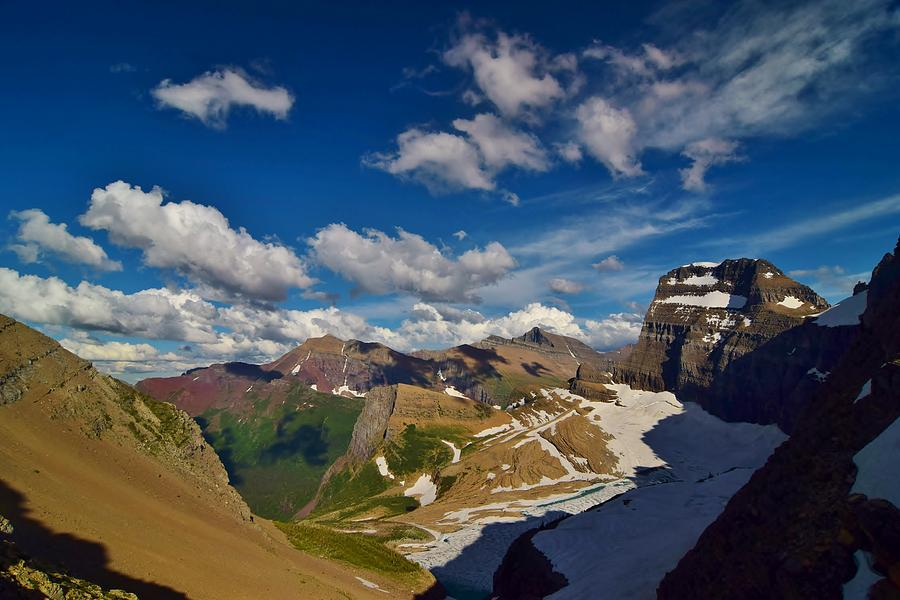 Mountains Photograph - Grinnell Glacier Overlook by Eric Fellegy