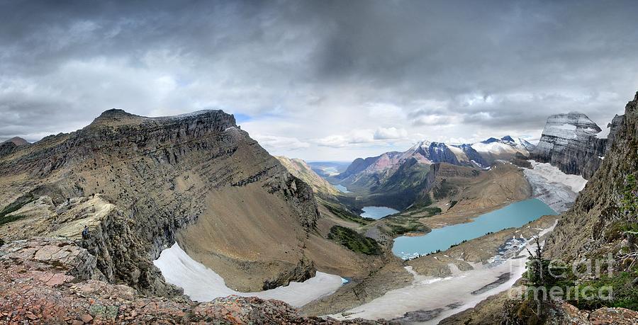 Glacier National Park Photograph - Grinnell Glacier Overlook Vista - Glacier National Park by Bruce Lemons