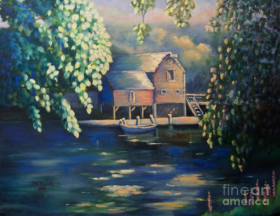 Landscape Painting - Grist Mill 2 by Marlene Book