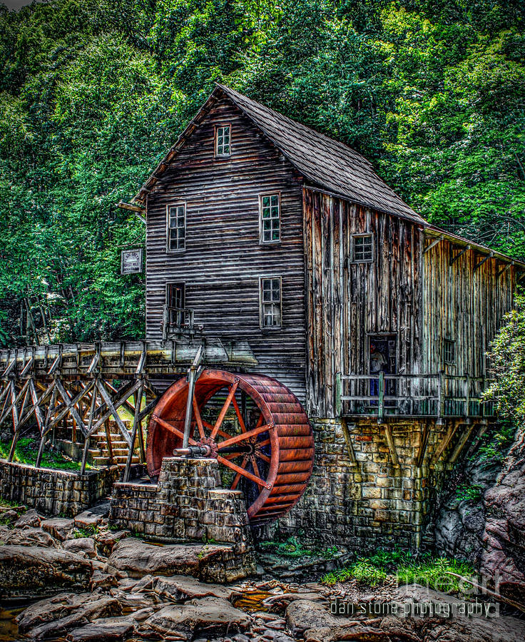 Abandoned Digital Art - Grist Mill by Dan Stone