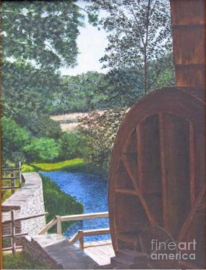 Paint Painting - Grist Mill  by Donald Hofer