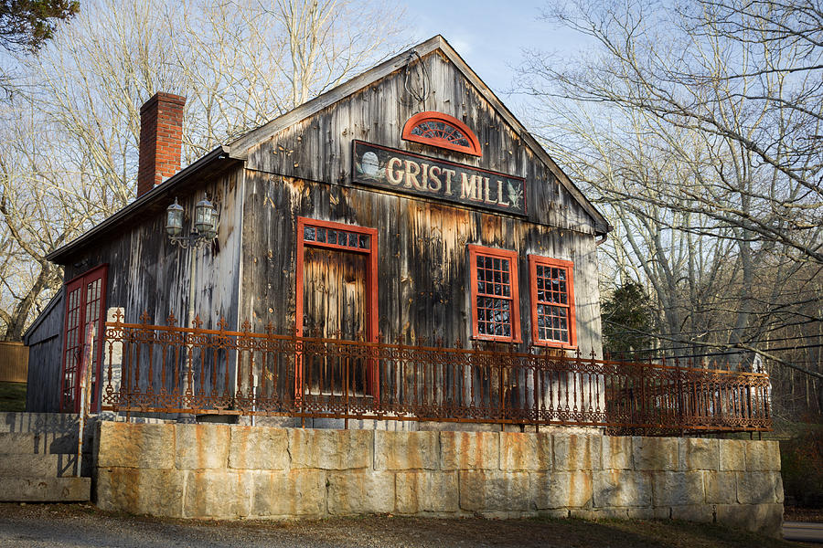 Grist Mill Photograph - Grist Mill by Kirkodd Photography Of New England