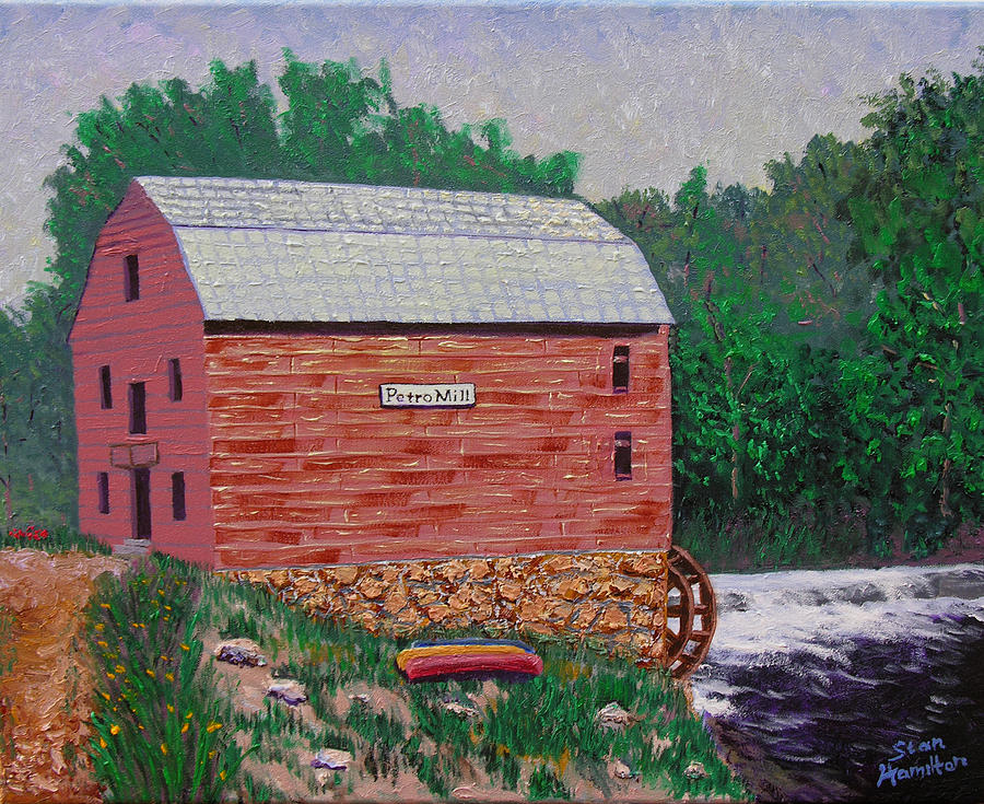 Grist Mill Painting - Grist Mill by Stan Hamilton