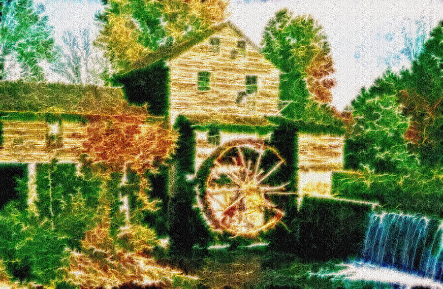Grist Mill Photograph - Grist Mill Tranquility by Mario Carini