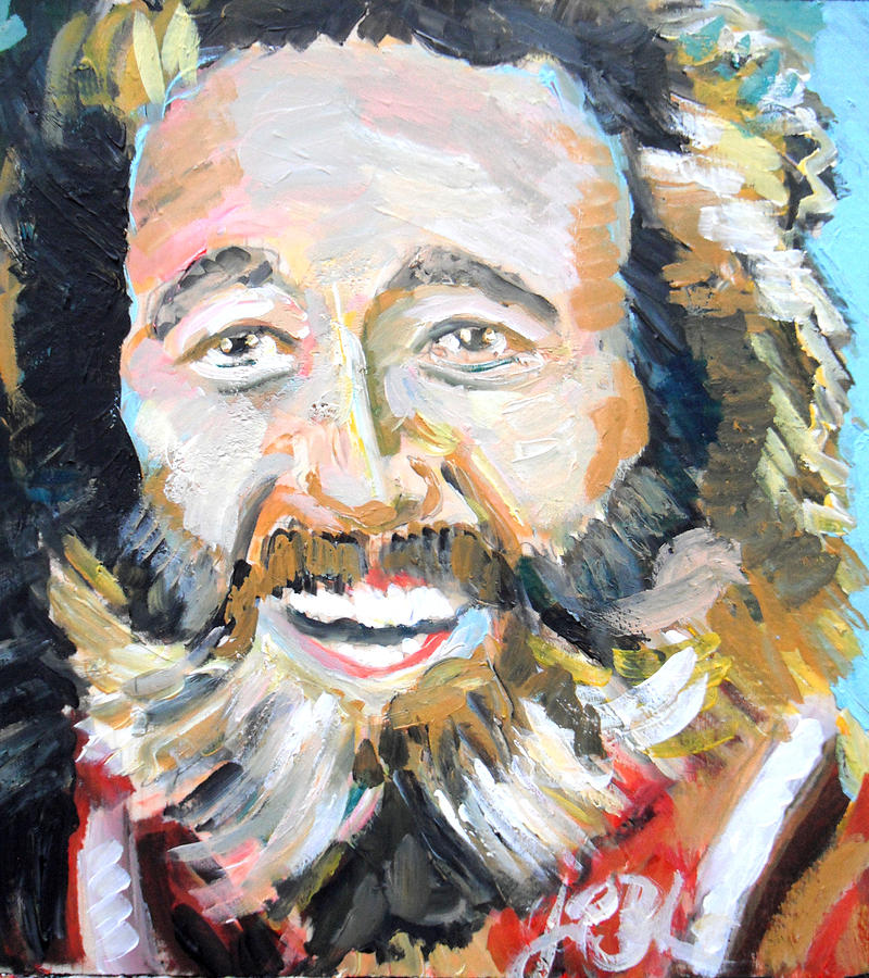 Grizzly Adams Painting - Grizzly Adams  by Jon Baldwin  Art