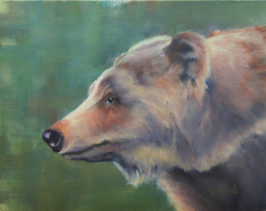 Grizzly Bear Portrait by Marsha Karle