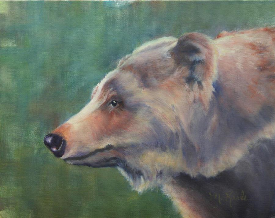 Grizzly Bear Portrait by Marsha Karle