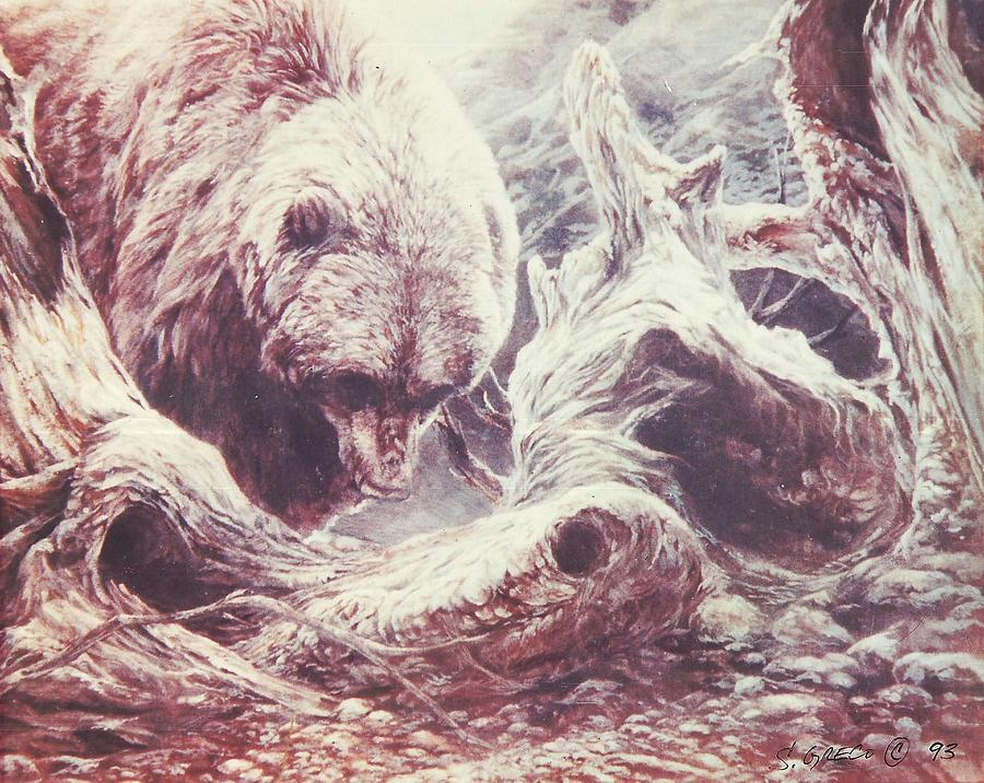 Bear Painting - Grizzly Bear by Steve Greco