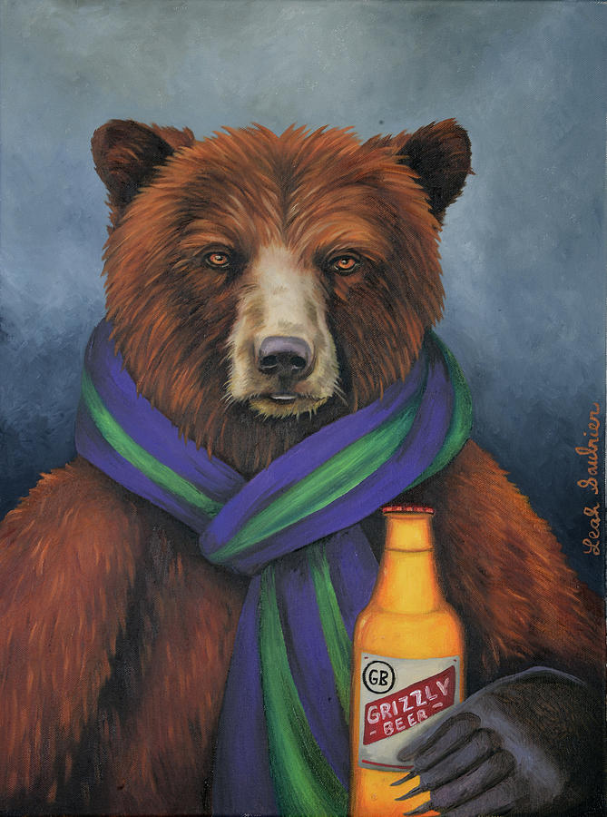 Grizzly Beer by Leah Saulnier The Painting Maniac