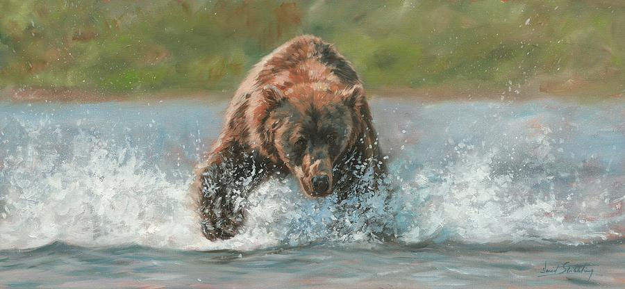 Grizzly Charge Painting