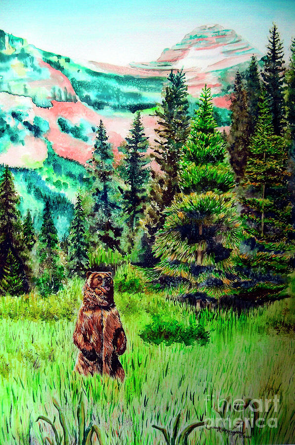 Bear Painting - Grizzly Country by Tracy Rose Moyers