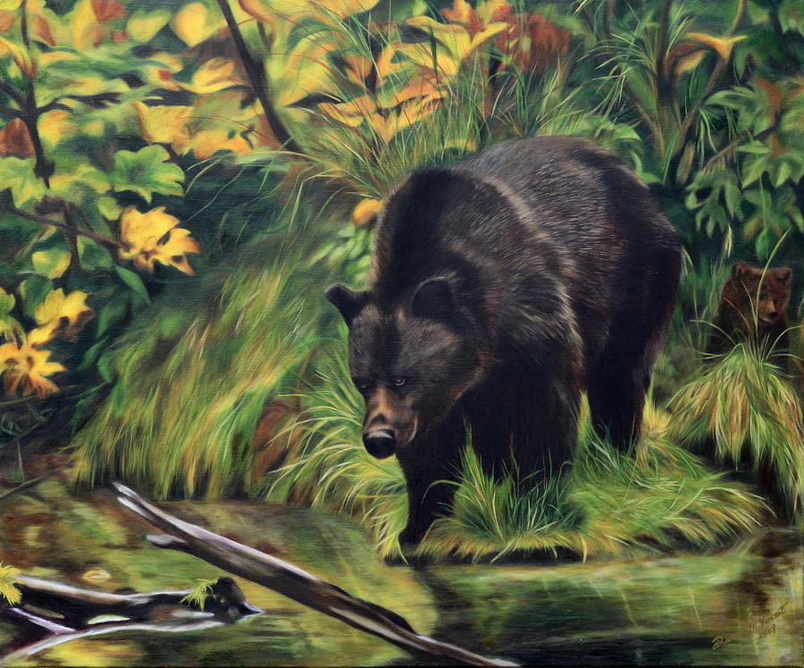 Grizzly Mama in Fall Colors by Dianne Vincent