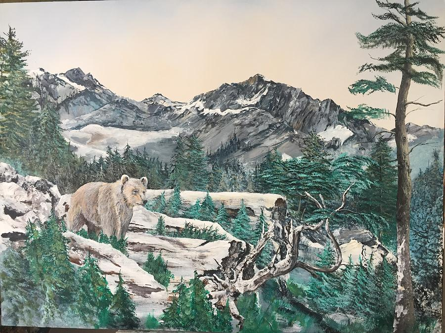 Grizzly Bear Painting - Grizzly by Wm Garcia