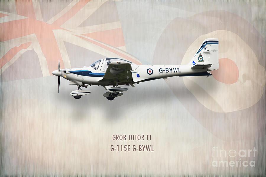 Air Cadets Digital Art - Grob Tutor T1 G-115e by Airpower Art