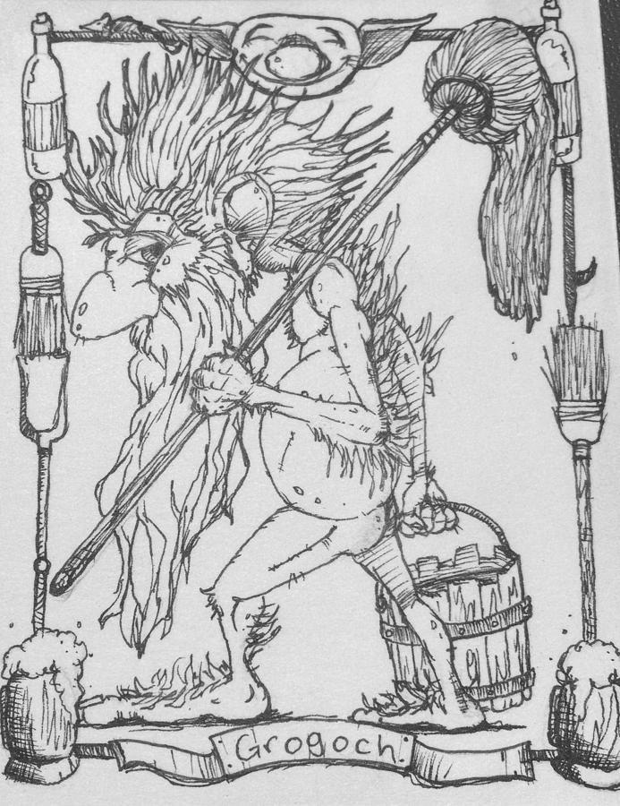 Fae Drawing - Grogoch by Jason Strong