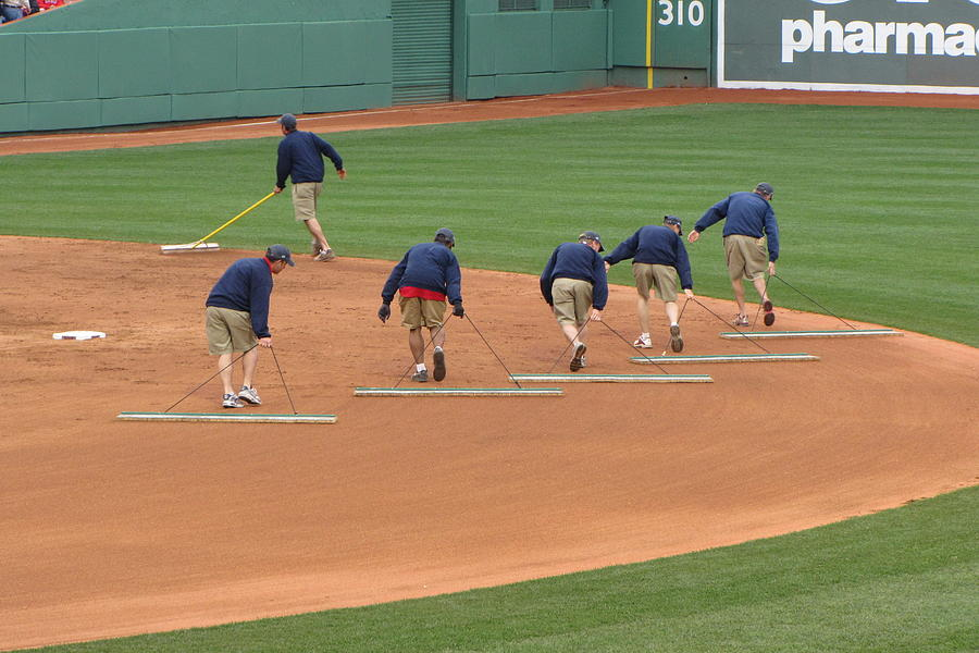 Grooming the Infield by Bart Blumberg