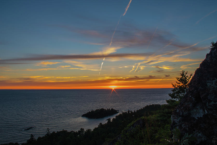 Sunset Photograph - Gros Cap Sunset by Tim Beebe