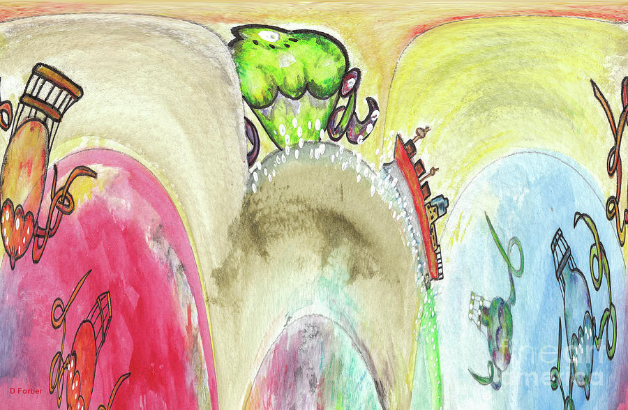 Trip Painting - Grosse Vague / Big Wave  by Dominique Fortier