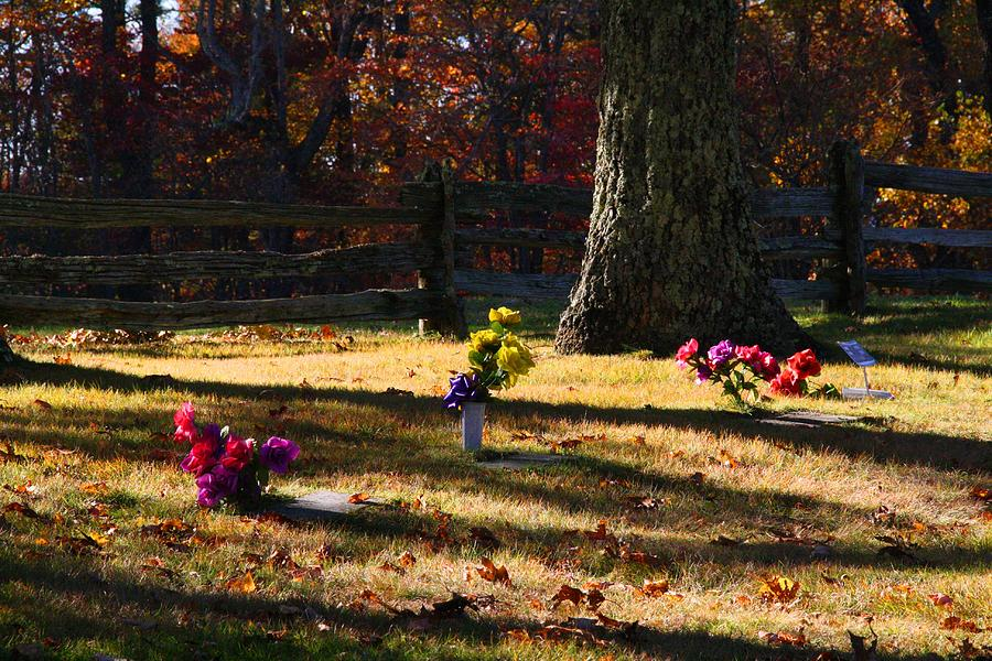 Cemetery Photograph - Groundhog Hill Cemetery by Kathryn Meyer