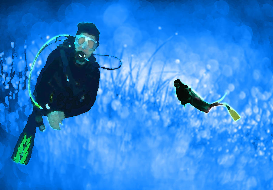 Scuba Digital Art - Groundwater by River Starship